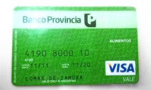 Visa vale social Cargada octubre 2016