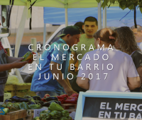 El Mercado en Tu Barrio: Cronograma Junio 2017