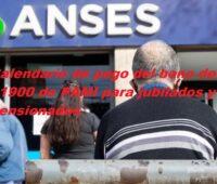 Calendario de pago del bono de $1900 de PAMI para jubilados y pensionados