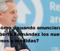 ¿Cómo y cuando anunciara Alberto Fernández los nuevos bonos y medidas?